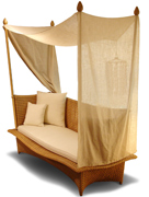 Daydream four-poster daybed from Dedon